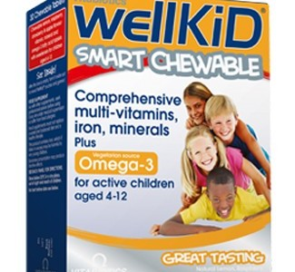 WellKid Smart Multivitamine – Comprimate masticabile cu vitamine și minerale pentru copii între 4 – 12 ani