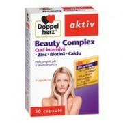 DoppelHerz – Beauty Complex – Cura Intensiva + Zinc + Biotina + Calciu – Pentru Par, Unghii si Tesut Conjunctiv
