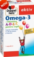 Doppelherz : Omega- 3 + Vitamina A+D+E+C Pentru Copii