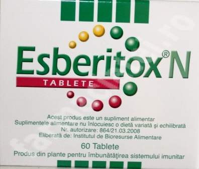 Esberitox N – Stimuleaza imunitatea si ne scapa de viroze