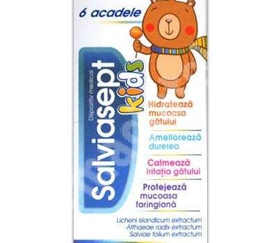 Acadele pentru copii cu efect antiseptic, antiinflamator in durerile de gat