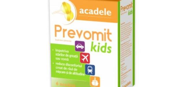 PREVOMIT Kids : Acadele pentru raul de transport