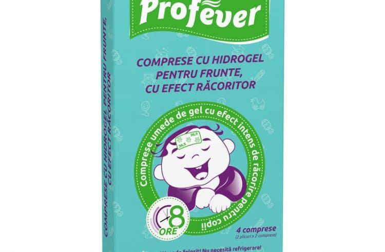 Profever – Comprese pentru frunte, cu efect racoritor, anti-febra