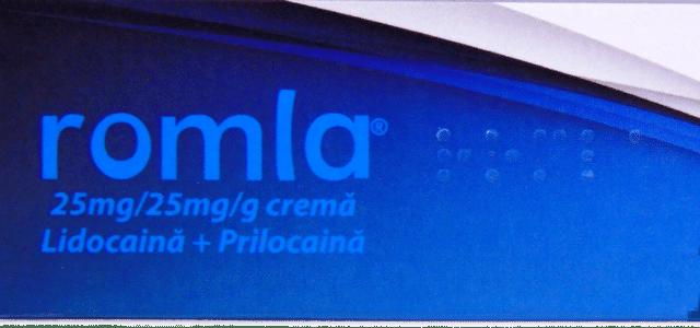 ROMLA – Prima crema cu rol anestezic, ideala in operatii minore ale pielii
