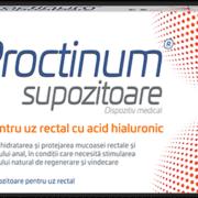 Proctinum – Supozitoare antihemoroidale cu acid hialuronic